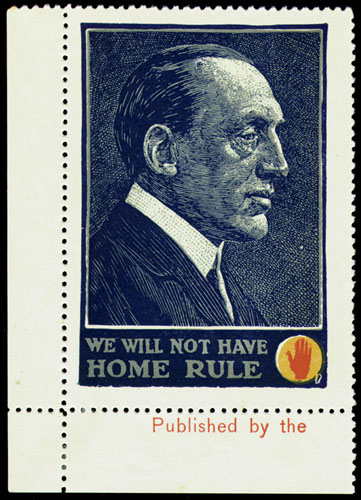1912 14 Anti Home Rule Poster Stamps